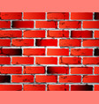 brick wall red color with texture vector image