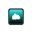 button of cloud with sun vector image vector image