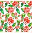 Camellia Rose Seamless floral pattern vector image vector image