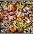 cartoon watercolor hand drawn doodles autumn vector image