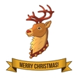 Christmas deer icon vector image vector image