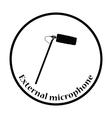 Cinema microphone icon vector image