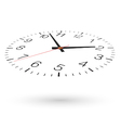 Clock view from above and one side vector image vector image