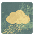 cloud grunge icon vector image vector image
