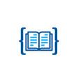 code book logo icon design vector image vector image