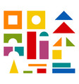 colorful blocks toy details for tower building vector image vector image