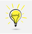 creative light bulb concept sketch idea for brand vector image