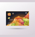 credit card in abstract geometric 3d shapes vector image vector image