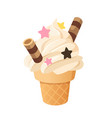 delicious ice cream vector image vector image