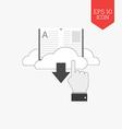Download e-book icon Flat design gray color symbol vector image