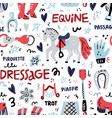 dressage pattern vector image vector image