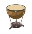 Drum icon in cartoon style vector image