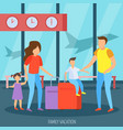 family vacation orthogonal background vector image