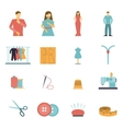 Fashion designer tools icon set vector image vector image