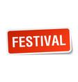 Festival square sticker on white vector image