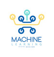 flat minimal icon of machine learning and data vector image