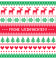 Frohe Weihnachten card - christmas pattern vector image vector image
