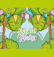 garden party cartoons vector image vector image
