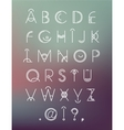 geometric hipster modern creative font abc vector image