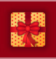 gift on holiday birthday or anniversary present vector image vector image