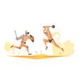 gladiators composition vector image