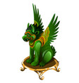 griffin figurine made of jade isolated on white vector image