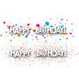 Happy birthday banners set vector image vector image