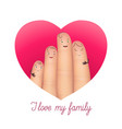 i love my family poster vector image vector image