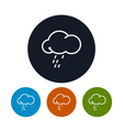 Icon cloud with the rain vector image