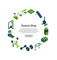 isometric gym sport and fitness items vector image vector image