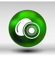 Kiwi fruits closeup icon isolated art logo design vector image