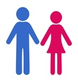 Man and woman icons vector image vector image