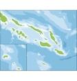 Map of Solomon Islands vector image