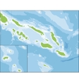 Map of Solomon Islands vector image vector image