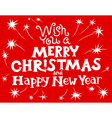 Merry Christmas and New Year lettering vector image vector image