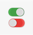 on and off button in flat style on a white vector image vector image