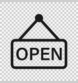 open sign icon in flat style accessibility on vector image vector image