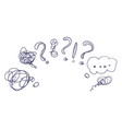 question marks and speech bubble concept vector image