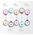 relax icons line style set with religion vector image