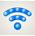 Retro wifi icon on white background vector image vector image