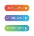 Reviews button speech bubble vector image vector image
