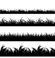 Seamless grass black silhouette set vector image vector image