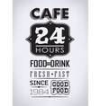 Set of coffee cafe typographic elements vector image vector image