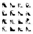 set of icons of woman shoes vector image