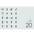 Set of lighting icons vector image