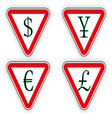 Sign money vector image