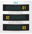 Simple black horizontal banners vector image vector image