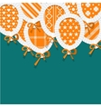 Simple Orange Paper Balloons with Pattern Fill vector image