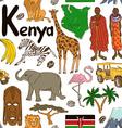 Sketch Kenya seamless pattern vector image vector image