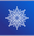 snowflake single icon on blue vector image vector image